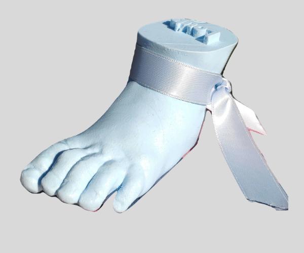 pied de bébé reproduit et imprimé en 3D