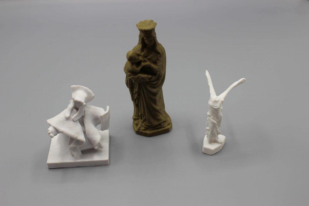 statues scannées et imprimées en 3d