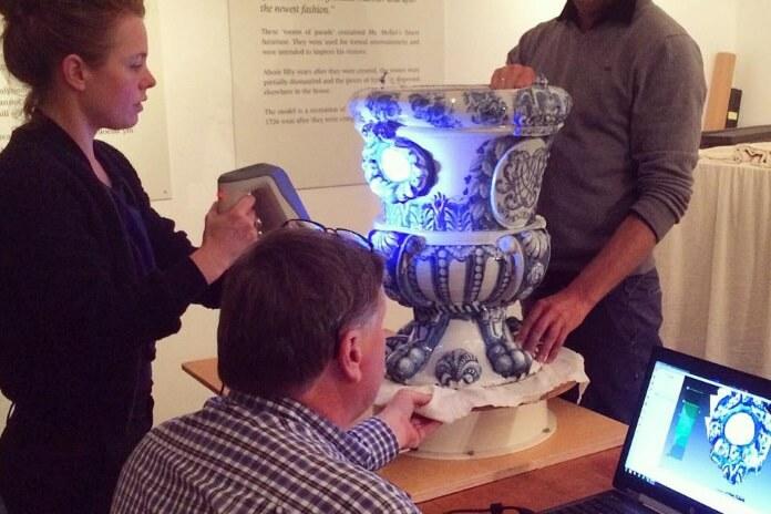 scan vase porcelaine