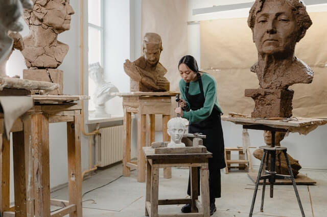 scanner oeuvre d'art sculpture